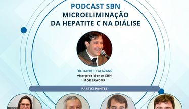 """Novo podcast da SBN (#37) está no ar, sobre """"Microeliminação da Hepatite C na diálise"""""""