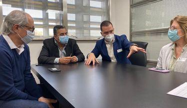 Reunião sobre o repasse do pagamento das sessões de hemodiálise do Ministério da Saúde para o município e, na ponta, para as clínicas que prestam serviços a pacientes do SUS