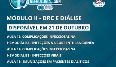 Confira a aula 13 do módulo de DRC e Diálise do Curso de Atualização da SBN