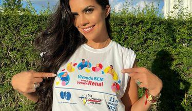 Daniela Albuquerque apoia a campanha do Dia Mundial do Rim