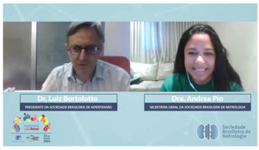 Sociedade Brasileira de Hipertensão divulga o Dia Mundial do Rim, com ação junto à SBN: Bate papo entre Dra Andrea Pio de Abreu e Dr. Luiz Aparecido Bortolotto