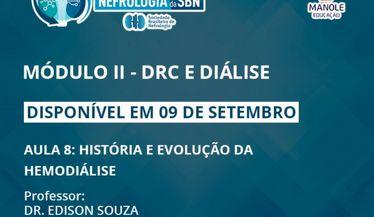 Confira a aula 8 do módulo de DRC e Diálise do Curso de Atualização da SBN