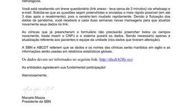 Registro Brasileiro da Covid 19 nas Unidades de Hemodiálise