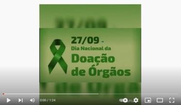 27/09 - Dia Nacional da Doação de Órgãos