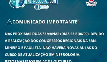 Pausa no Curso de Atualização durante congressos regionais: Retornaremos em 07 de Outubro!