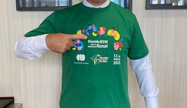 Deputado Federal Vinicius Carvalho apoia a campanha do Dia Mundial do Rim